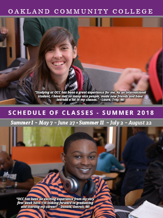 Summer 2018 Schedule of Classes Cover
